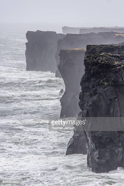 The massive cliffs and rough waters at Svörtuloft, Snaefellsnes Peninsula