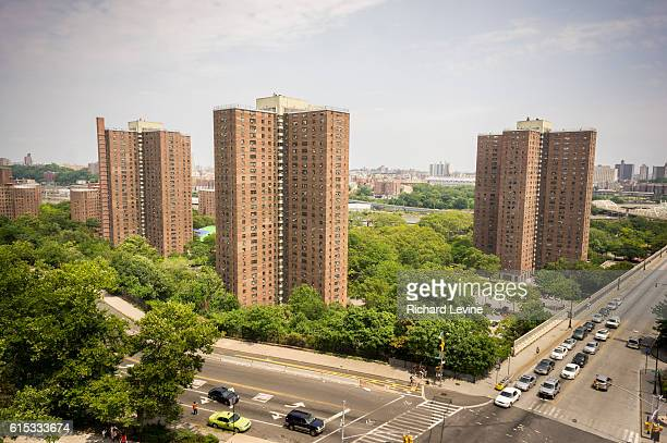 The massive NYCHA Polo Grounds Houses complex of apartments in Harlem in New York is seen on Sunday July 13 2014 Federal prosecutor Preet Bharara...