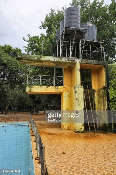 The massive swimming pool which was used to train divers of the LTTE Sea Tigers to launch deep sea suicide attacks against the Sri Lankan navy during...