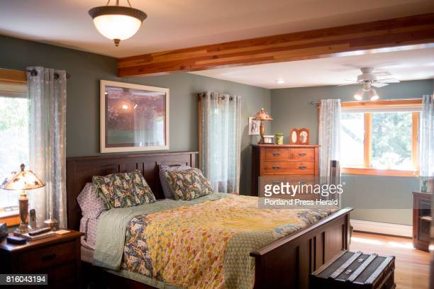 The master bedroom in Tracy Revoir's home Revoir is selling her home with the help of her broker Laura Sosnowski of Maine Home Connection JUNE 30...