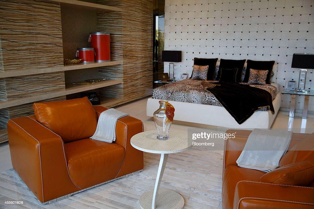 The master bedroom is seen inside 1181 N  Hillcrest Road at