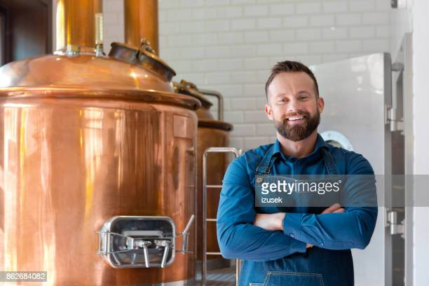 the master brewer in his micro brewery - brewery stock pictures, royalty-free photos & images