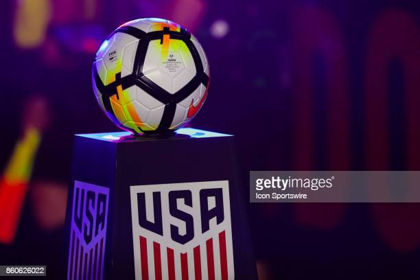 The match ball before the World Cup Qualifying soccer match between the US Mens National Team and Panama on October 6 2017 at Orlando City Stadium in...