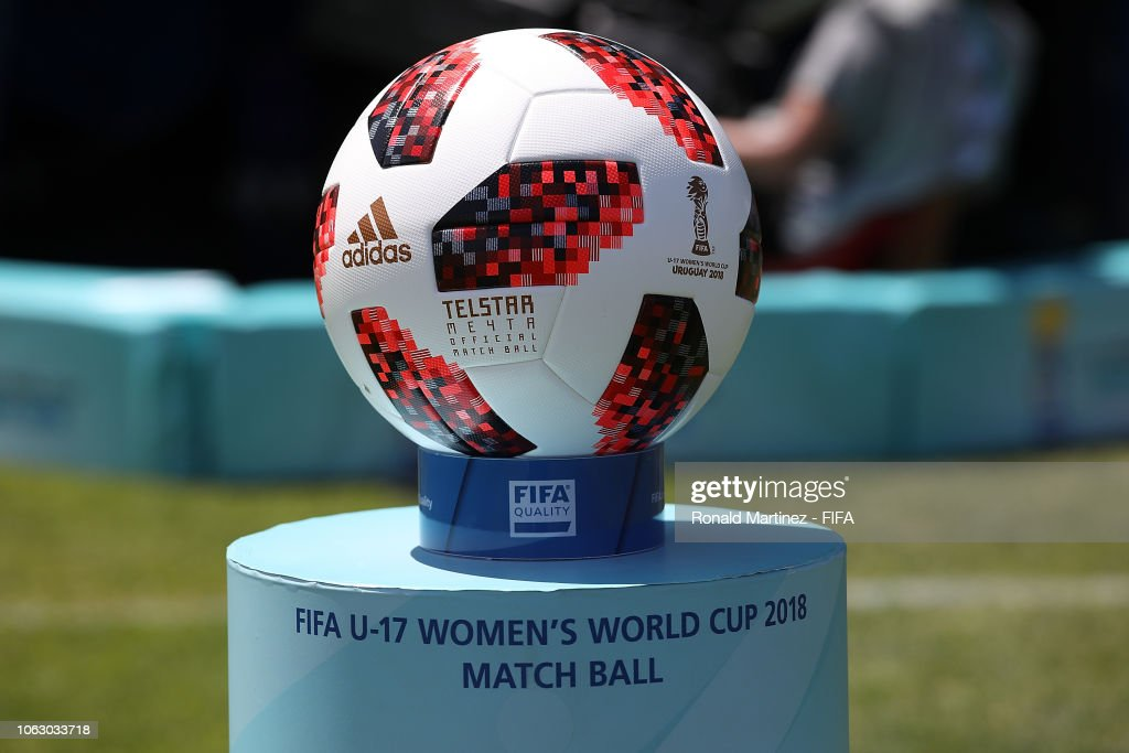 The match ball during the FIFA U-17 Women s World Cup Uruguay 2018 ... 727f69629