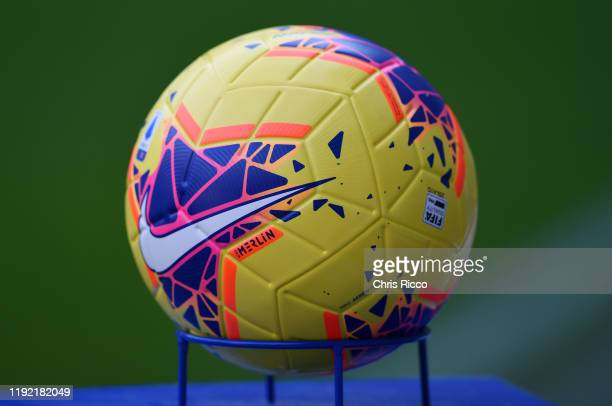 The match ball during the Serie A match between Juventus and Cagliari Calcio at Allianz Stadium on January 6, 2020 in Turin, Italy.