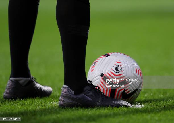 The match ball is seen during the Premier League match between West Bromwich Albion and Chelsea at The Hawthorns on September 26 2020 in West...