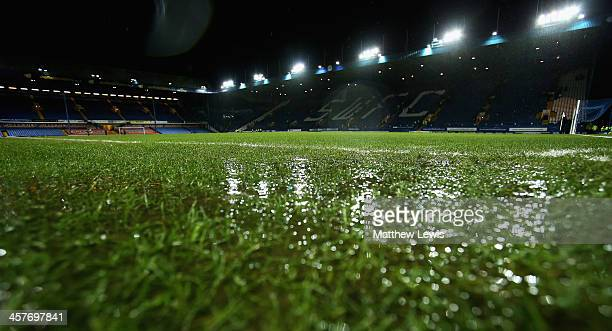 The match between Sheffield Wednesday and Wigan Athletic is called off, due to a waterlogged pitch during the Sky Bet Championship match between...