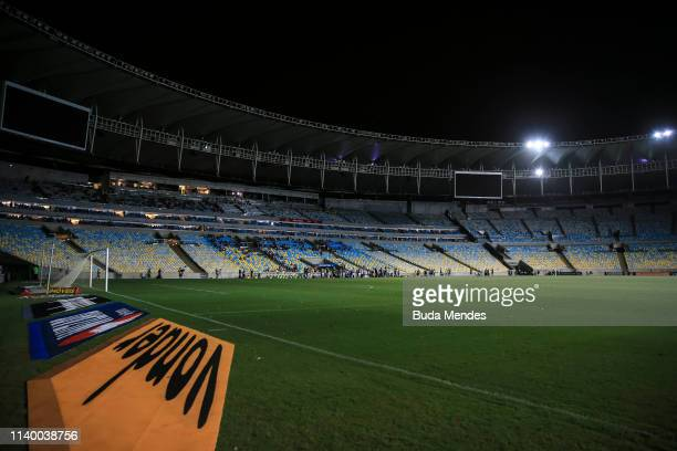 The match is stopped due to a blackout in the stadium during a match between Fluminense and Goias as part of Brasileirao Series A 2019 at Maracana...