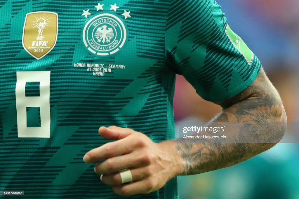 promo code d4030 3d3e6 The match jersey of Toni Kroos of Germany during the 2018 ...