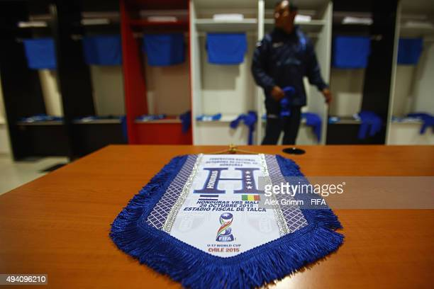 The match pendant is seen in the Honduras dressing room prior to the FIFA U17 World Cup Chile 2015 Group D match between Mali and Honduras at Estadio...