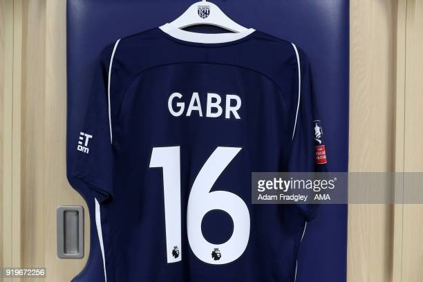 The match shirt of Ali Gabr of West Bromwich Albion during the Emirates FA Cup Fifth Round between West Bromwich Albion and Southampton at The...
