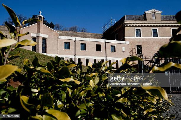 The Mater Ecclesiae Monastery next to Tower of San Giovanni inside the Vatican Gardens where Pope Benedict XVI is expected to retire after his...