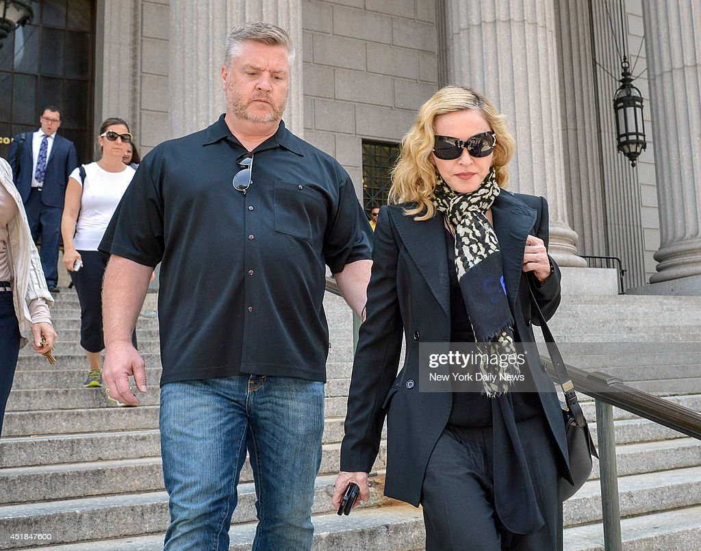 The Material Girl Madonna leaves Manhattan Supreme Court