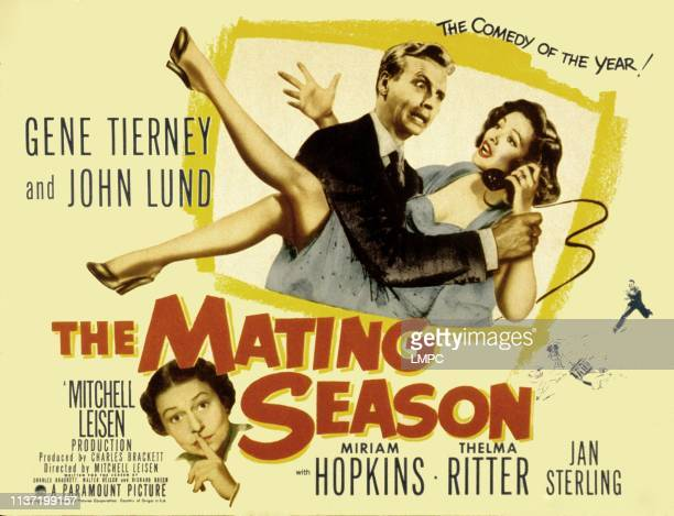 The Mating Season poster John Lund Gene Tierney Thelma Ritter 1951