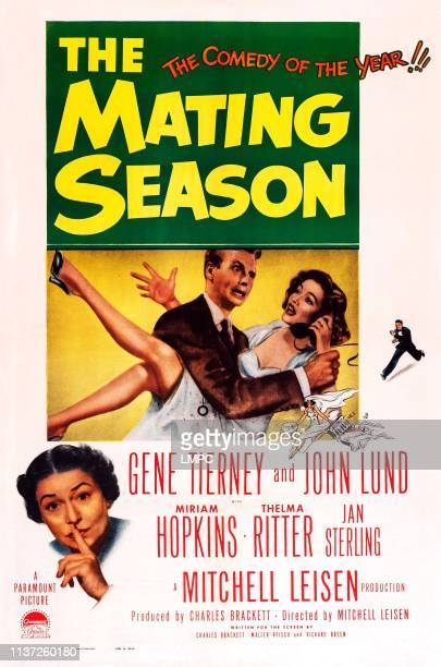 The Mating Season poster US poster art from left Thelma Ritter John Lund Gene Tierney 1951