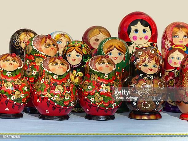 The matryoshka or babushka dolls