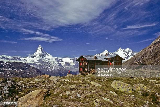 Das Matterhorn und Restaurant im Fluhalp