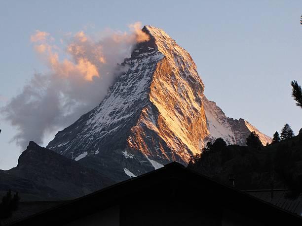 The Matterhorn At Dusk From Zermatt, Switzerland Wall Art