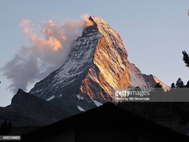 The Matterhorn at dusk from Zermatt, Switzerland