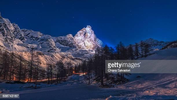 The Matterhorn illuminated