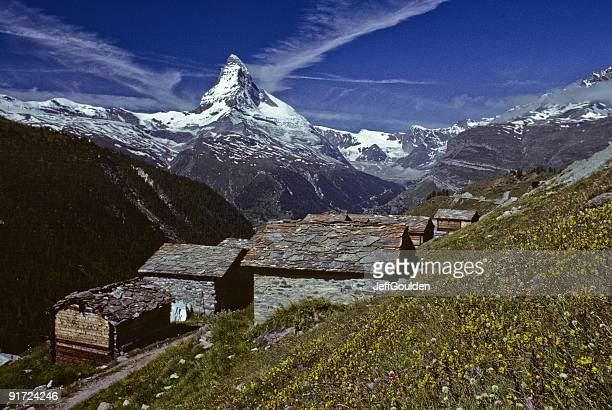 The Matterhorn and Findeln Village
