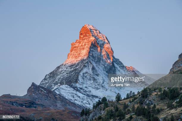 the matterhorn - mountain peak stock pictures, royalty-free photos & images