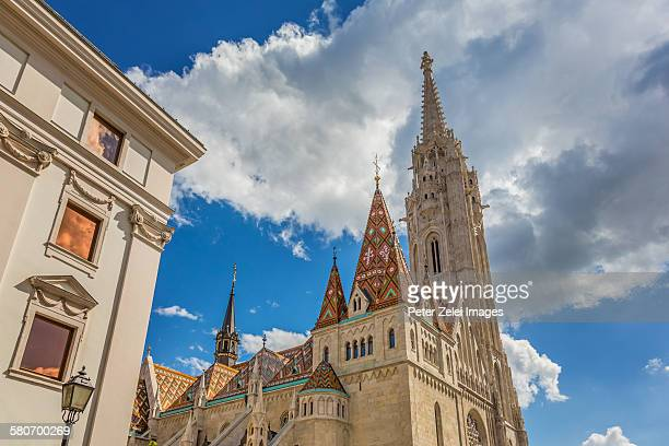 the matthias church in budapest, hungary - royal palace budapest stock pictures, royalty-free photos & images