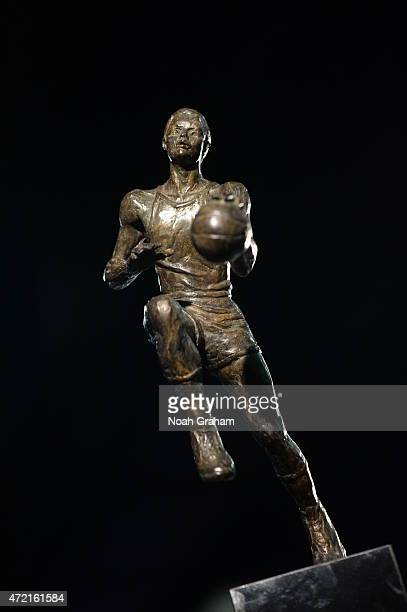The Maurice Podoloff Trophy at the KIA 2014-15 Most Valuable Player Award Press Conference on May 4, 2015 at Oakland, California. NOTE TO USER: User...