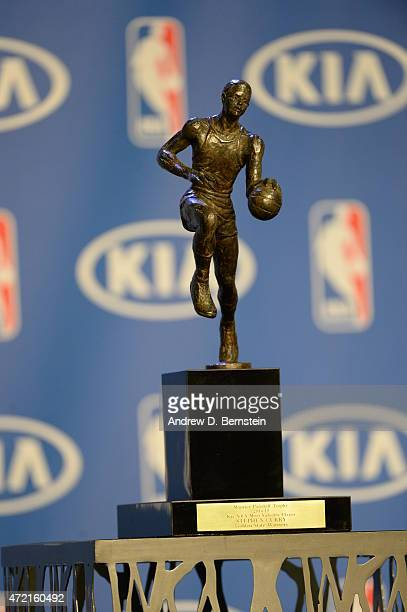 The Maurice Podoloff Trophy During 201415 Kia NBA Most Valuable Player Award Presentation At Oakland