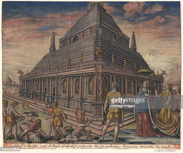 The Mausoleum at Halicarnassus After Maarten van Heemskerck 1572 Found in the collection of the Bibliothèque municipale de Lyon