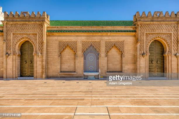 the mausoleum of mohammed v, rabat, morocco (hdri) - rabat morocco stock pictures, royalty-free photos & images