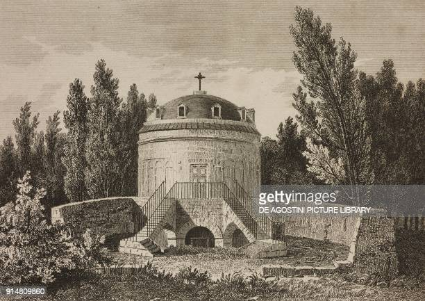 The Mausoleum of Theoderic Ravenna EmiliaRomagna Italy engraving by Lemaitre and Arnout from Allemagne by Philippe Le Bas L'Univers pittoresque...