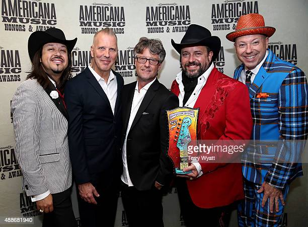 The Mavericks' Eddie Perez and Paul Deakin Americana Music Association Executive Director Jed Hilly and The Mavericks' Raul Malo and Jerry Dale...