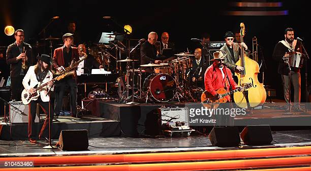 The Mavericks perform onstage during The 58th GRAMMY Premiere Ceremony at Los Angeles Convention Center on February 15 2016 in Los Angeles California