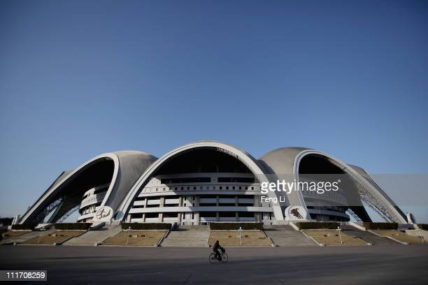 The May Day stadium, the biggest stadium in the world accomodating 150,000 seated visitors, is seen on April 2, 2011 in Pyongyang, North Korea....