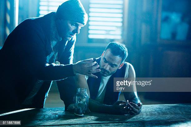 THE MAGICIANS 'The Mayakovsky Circumstance' Episode 107 Pictured Brían F O'Byrne a Professor Mayakovsky Arjun Gupta as Penny