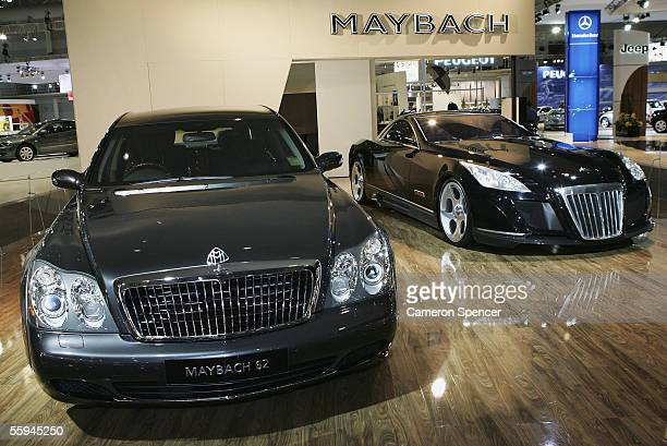 The Maybach 57 Limousine and the Maybach Exelero are displayed at the Australian International Motorshow at the Darling Harbour Exhibiton Centre...