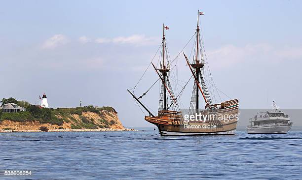 The Mayflower II returned to Plymouth Mass June 6 after repairs in Mystic Conn