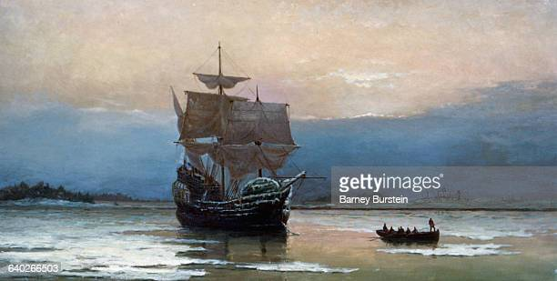 The Mayflower in Plymouth Harbor by William Halsall