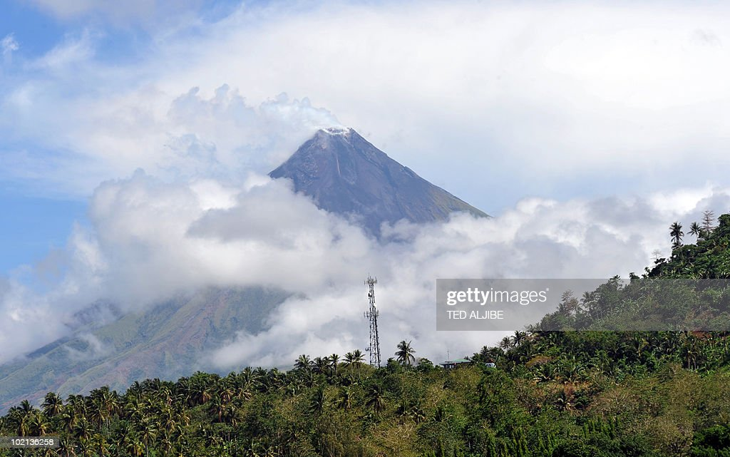 The Mayon volcano is seen from the airport of Legaspi City, Albay province, south of Manila on May 4, 2010. The 2,460-metre (8,070-foot) Mayon has erupted 48 times in recorded history. In 1814, more than 1,200 people were killed when lava flows buried the town of Cagsawa.