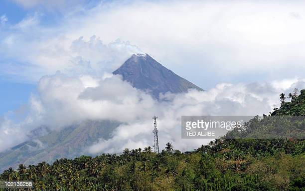 The Mayon volcano is seen from the airport of Legaspi City Albay province south of Manila on May 4 2010 The 2460metre Mayon has erupted 48 times in...
