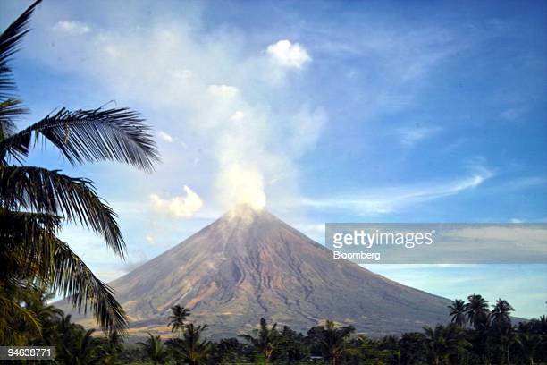 The Mayon volcano spews ash and lava in the Bicol Region near Legazpi Philippines Saturday August 5 2006 The Mayon Volcano surpassed the length of...