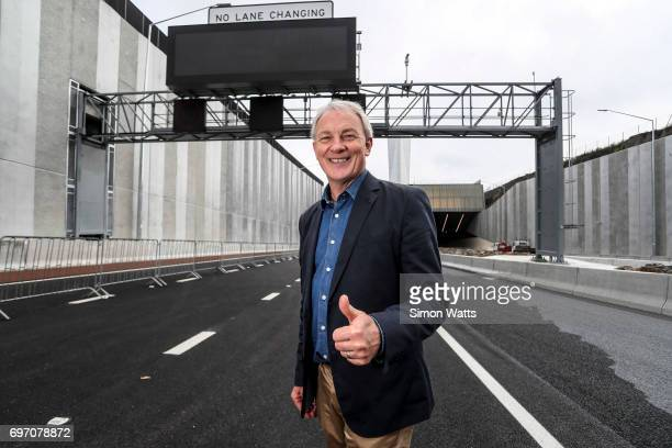 The Mayor of Auckland Phil Goff poses for a photo at the official opening of the Waterview Connection Tunnel on June 18, 2017 in Auckland, New...