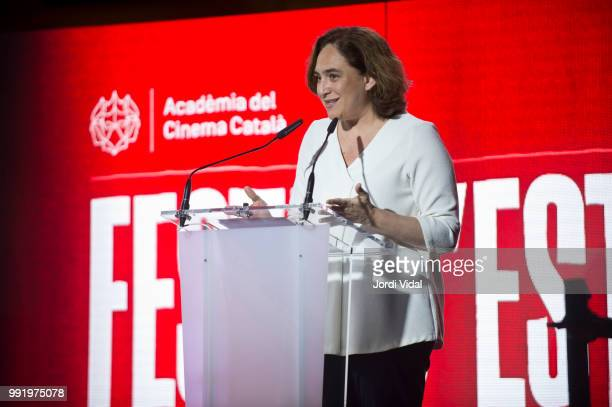 The mayor of Barcelona Ada Colau attends Catalonian Cinema Party at Palauet Albeniz on July 4 2018 in Barcelona Spain