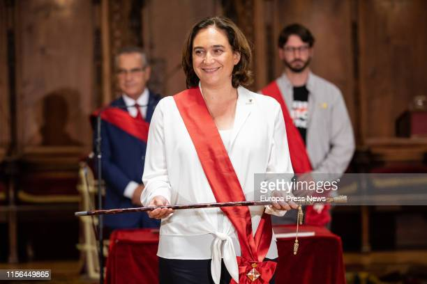 The mayor of Barcelona, Ada Colau, attends the session of constitution of the City Council of Barcelona on June 15, 2019 in Barcelona, Spain.
