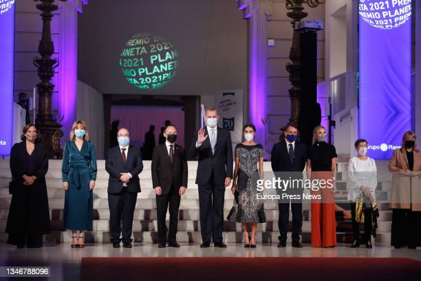 The Mayor of Barcelona, Ada Colau , the Minister of Education Pilar Alegria the Minister of Culture, Miquel Iceta the head of the Government of...