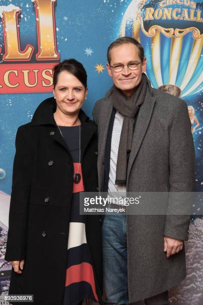 The Mayor of Berlin Michael Mueller and his wife Claudia attend the 14th Roncalli Christmas at Tempodrom on December 16 2017 in Berlin Germany
