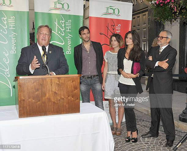 The Mayor of Beverly Hills Barry Brucker, actors Daniele Pecci, Martina Codecasa, Katy Saunders and President of Cinecitta Luce Roberto Cicutto...
