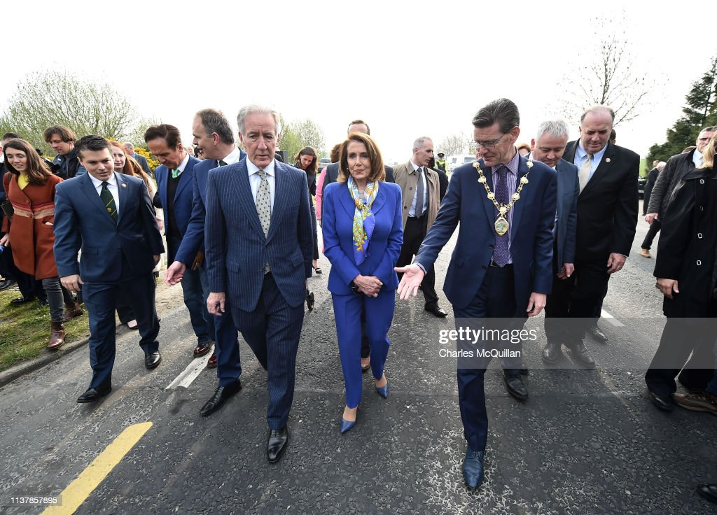 GBR: Nancy Pelosi Visits The Irish Border