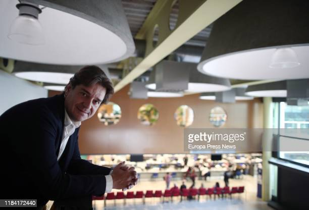 The mayor of Fuenlabrada, Francisco Javier Ayala, poses in an interview for Europa Press on October 28, 2019 in Madrid, Spain.